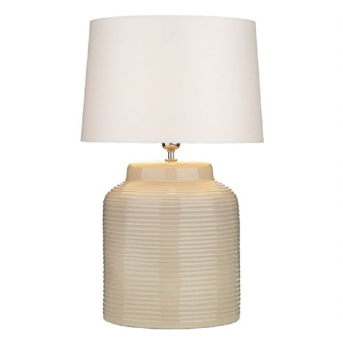 Tidal Table Lamp Ribbed Small Taupe Base Only TID4133 (7-10 day Delivery)